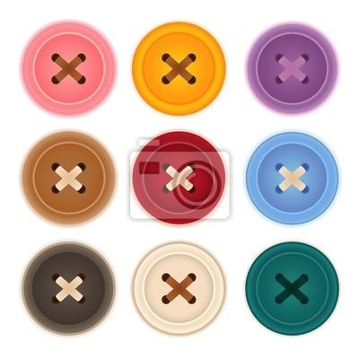 Одежда Кнопки Коллекция - векторный файл EPS10