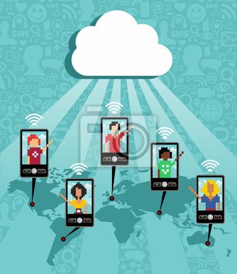 Облачные вычисления сотовый телефон связи