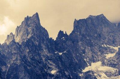 Картина Облачно Alp горы