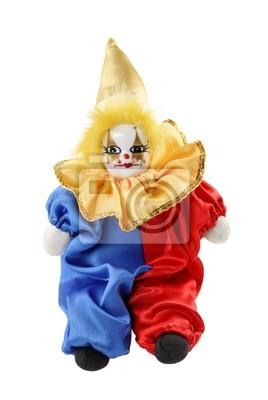 Клоун игрушка, изолированных на белом фоне