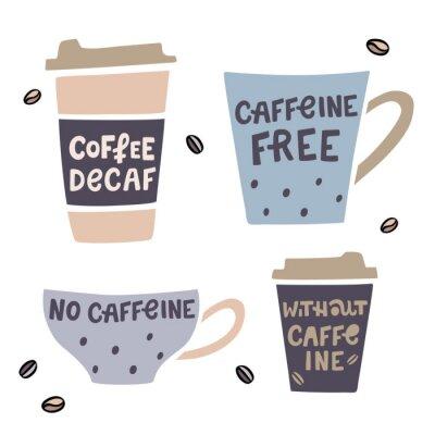 Картина Кофе без кофеина векторная иллюстрация