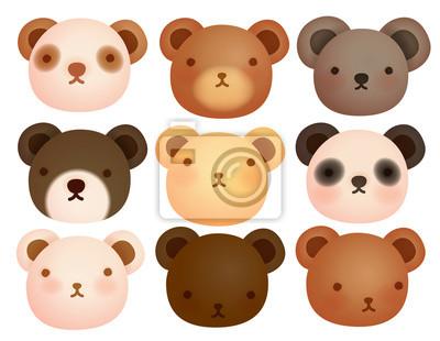 Коллекция милый медведь