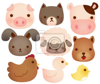 Коллекция мило сельскохозяйственных животных