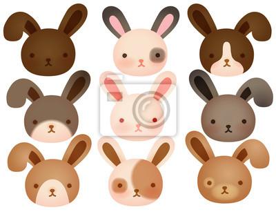 Коллекция милый кролик
