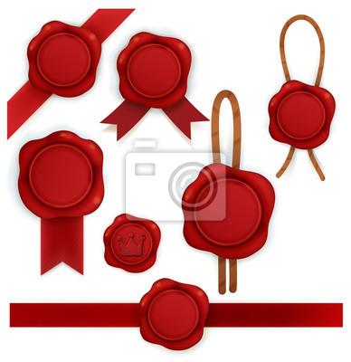 Коллекция из красного сургуча