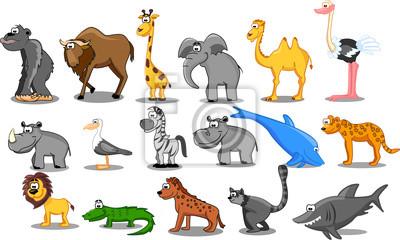 набор векторных животных