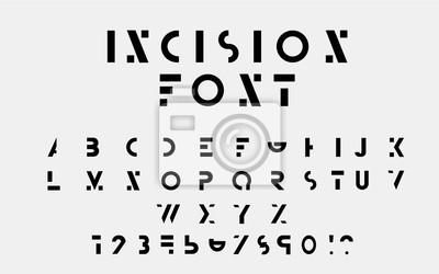 Цвет буквенных шрифтов и цифры. Вектор eps10 иллюстратор.