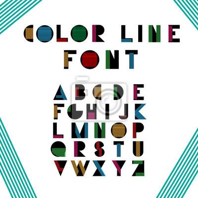Цвет буквенных шрифтов. Вектор eps10 иллюстратор.