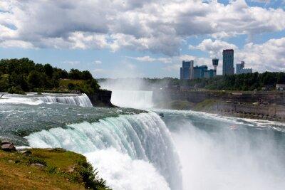 Картина Цвет DSLR складе широкий угол изображение Ниагарского водопада, показывая American Falls и канадской стороне; горизонтальные с копией пространства для текста