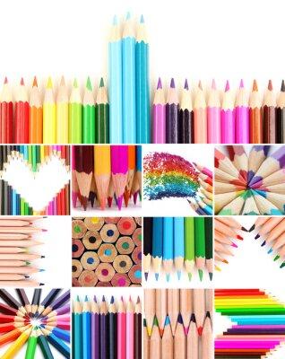 Картина Цветные карандаши коллаж