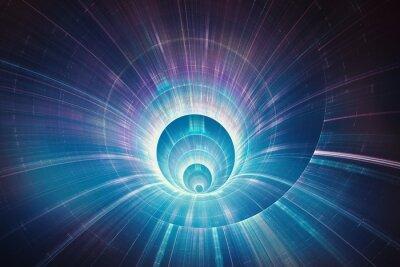 Картина Красочный 3D туннель скорость основы концепции