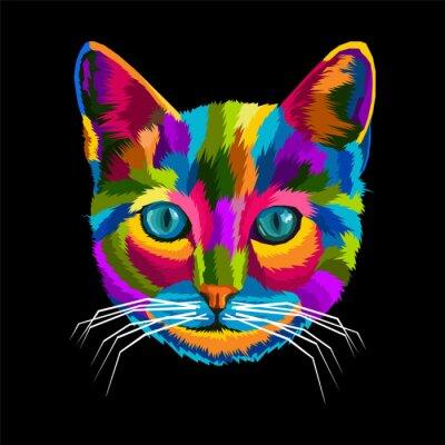 colorful cat pop art portrait