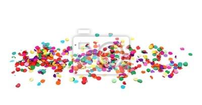 Красочные конфетти на белом фоне