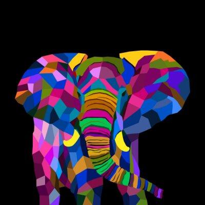 colorful elephant pop art pop art vector