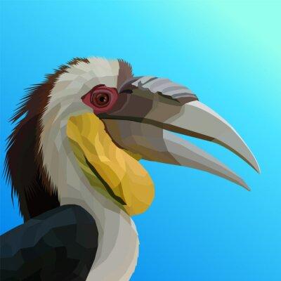 colorful polygonal of bird pop art portrait vector illustration