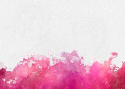 Картина Красочный шаблон краска красная акварель