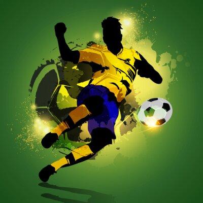 Картина Красочные съемки футболист