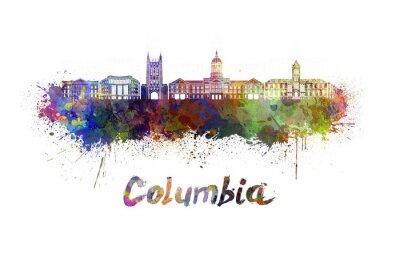Картина Колумбия МО горизонта акварелью