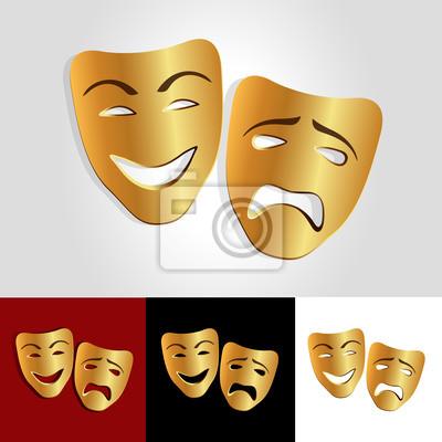 Комедии и трагедии маски вектор