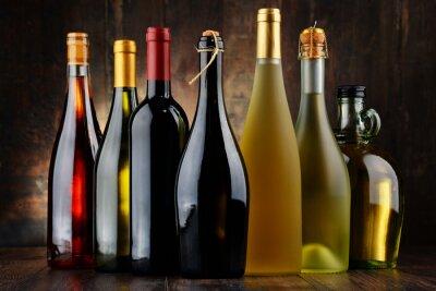Картина Композиция с ассорти бутылки вина