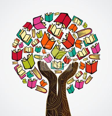 Концепция дизайна книги дерево
