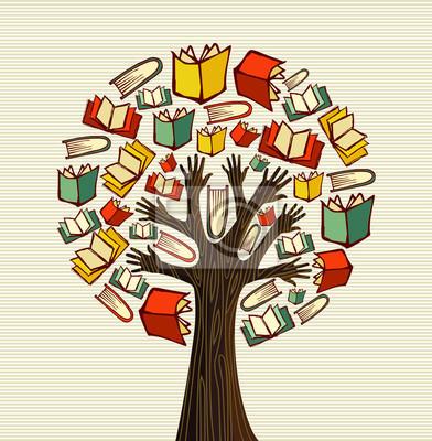 Эскизный проект книги рука дерево