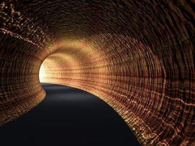 Картина Концептуальная абстрактный дорожный туннель со светом в конце