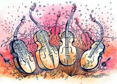 Картина контрабас музыка