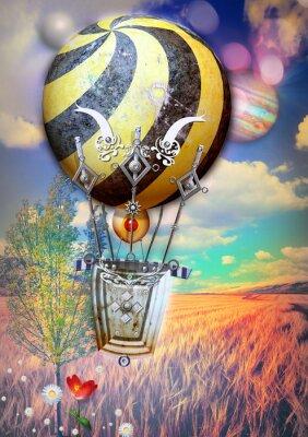Картина Кукурузные щенной и дерево с стимпанк воздушном шаре
