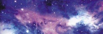 Картина Космос баннер со звездами