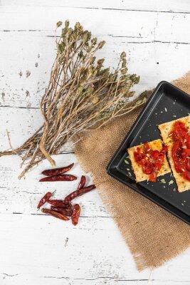 Картина Крекер с жареным перцем, перцем чили и орегано