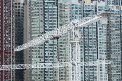 Картина Кран в строительной площадки