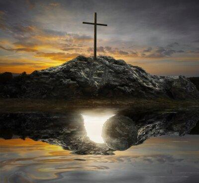 Картина Крест и пустой гроб