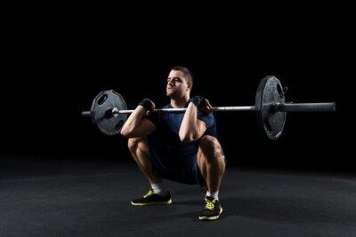 Картина Crossfit спортсмен выполняет веса лифта