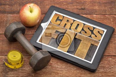 Картина CrossFit абстрактное слово на планшете
