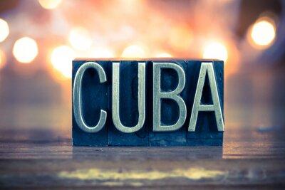 Картина Куба Концепция металлических печать тип