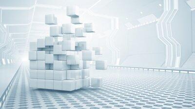 Картина Куб в виртуальной комнате