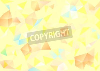 Картина Кубизм фон Бледно-желтый и оранжевый синий