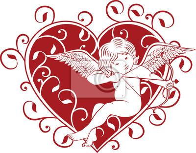 Амур с Валентина сердце
