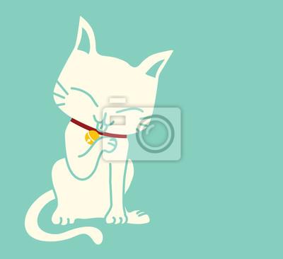 Cute Cat - векторный файл EPS10