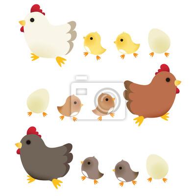 Симпатичные Chicken - векторный файл EPS10