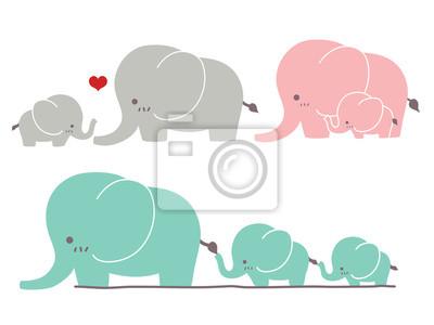 Симпатичные Слон - векторный файл EPS10