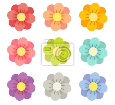 Милые цветы - векторный файл EPS10
