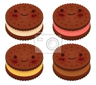 Симпатичные Мороженое Sanwich Коллекция - векторный файл EPS10