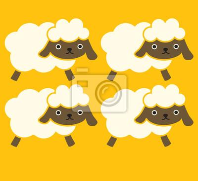 Cute Sheep - векторный файл EPS10