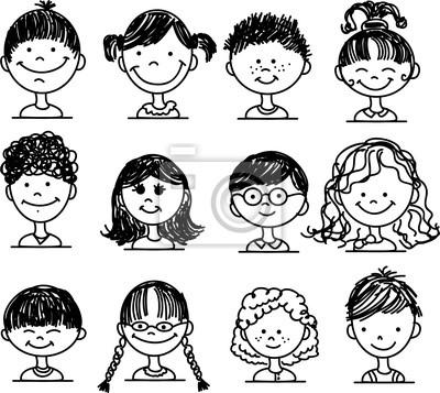 Симпатичные улыбающиеся лица людей