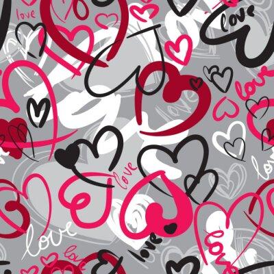 Картина Cute валентина бесшовный фон с сердечками