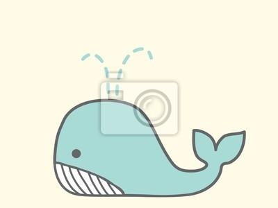 Симпатичные Whale - векторный файл EPS10
