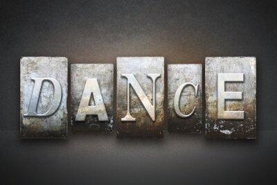 Картина Танец Letterpress