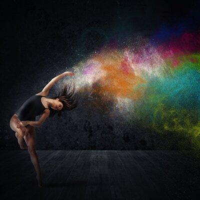 Картина Танец с цветными пигментами